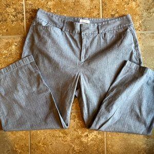 Dockers Gray pinstripe crop capri women's size 12